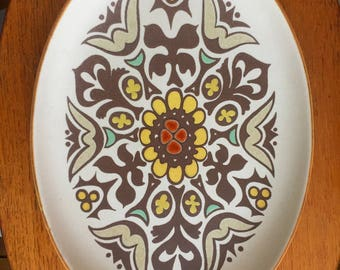 Vintage 1970s Denby Langley Serving Plate - Canterbury Pattern