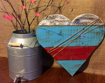 "Reclaimed Pallet Wood Heart ""Be Mine"" Sign, Pallet Heart, Valentine's Day Sign"
