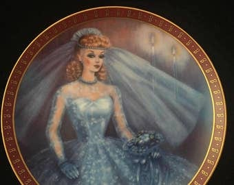 """Barbie 1959 """"Bride to Be"""" collectors plate"""