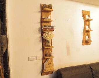 Rustic wall shelf oak