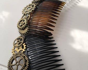Steampunk Hair Combs