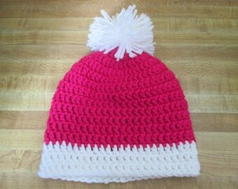 6-12 months Crochet Hat/Beanie with Pompom