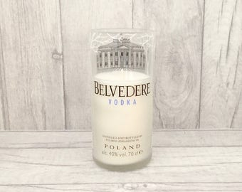 Belvedere Vodka Bottle Candle (Recycled Bottle)