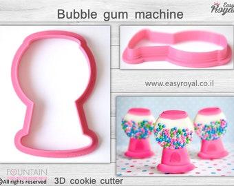 Bubble gum machine - 3D cookie cutter