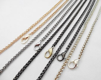 5mm gold silver gunmetal Chain Strap black purse strap handles bag hadnbag Purse Replacement Chains Purse Finished Chain straps High Quality