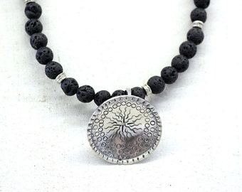 Lava & Sterling Necklace