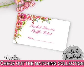 Raffle Ticket Bridal Shower Raffle Ticket Spring Flowers Bridal Shower Raffle Ticket Bridal Shower Spring Flowers Raffle Ticket Pink UY5IG
