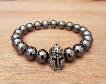 Man, Gladiator-04, Hematites bracelet,
