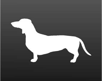 Dachshund Vinyl Decal Car Window Laptop Wiener Dog Silhouette Sticker