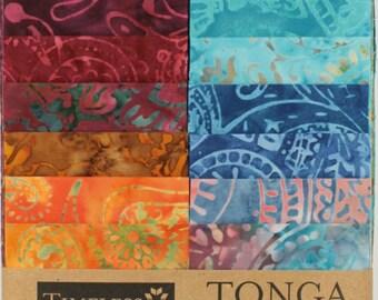 "Tonga Treats Batiks - Paisley Strips Junior / Junior Jelly Roll by Timeless Treasures - 20, 2.5"" x 42"" Strips per pack."