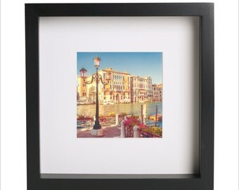 ITALY Venice Gondolas Grand Canal square photo print | Use in IKEA Ribba frame | Looks great framed for gift | Free Shipping | #4