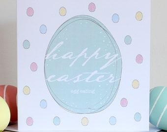 Easter card - Happy Easter egg eating!