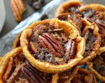 Mini Southern Pecan Pies (6), American Pie, Artisanal Pie, Fresh Baked goods, Food Gift, Vegetarian Pie, Artisan Pie, Made to order