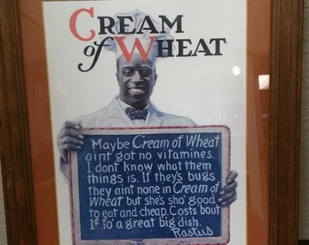 Reproduction Cream of Wheat Ad-1975