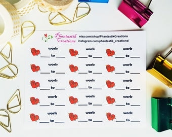 Work From To Planner Stickers for Nurses Doctors Healthcare Providers