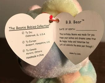 TY Beanie Baby - Birthday Bear