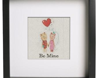 Be My Valentine Cross Stitch Pattern