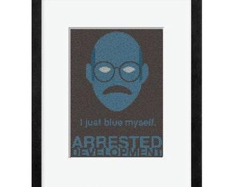 I Just Blue Myself Cross Stitch Pattern
