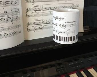 Music Gift, Music Mug, Music Teacher Gift, Music Lover Gift, Gift for Music Lover, Piano Gift, Gift for Teacher