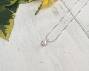 Pink Crystal Necklace.