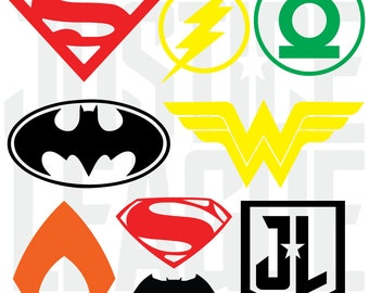 Custom DC Justice League Decal Stickers
