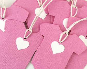 Baby Girl Thank You Tags 10 Pk, Baby Party Favour Tags, Its A Girl Party, Pregnancy Reveal, Baby Girl Shower Ideas, Pink Baby Shower Tags