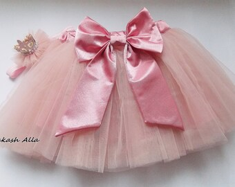 ON SALE Baby Tutu- Infant Tutu- Tutu- Newborn Tutu- Pink Tutu- Girls Tutu- Baby Shower Gift-Tutu Dress-Light Pink Tutu-tutu 1st birthday