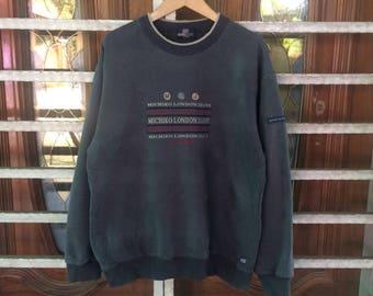 Vintage MICHIKO LONDON Jeans Sweatshirt Hoodies Streetwear Michiko Jeans Spell Out Sportswear