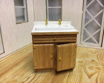 Dolls house kitchen sink