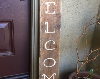 Welcome Wood Sign, Wood Pallet Sign, Welcome