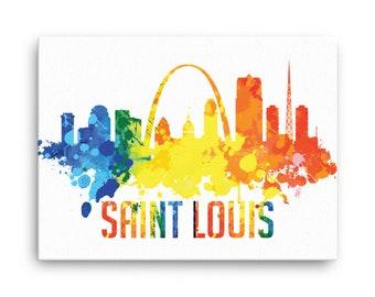 saint louis skyline canvas print st louis missouri cityscape home decor office - Home Decor St Louis Mo