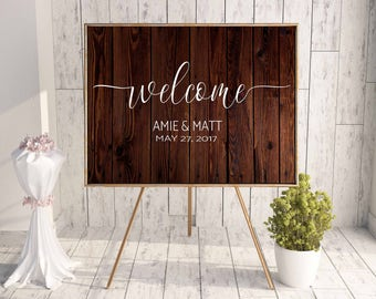 Wedding Welcome Sign DECAL, Rustic Wedding Welcome Sign, DECAL ONLY, Wedding Welcome Sign, Do it yourself Wedding Welcome Sign, Rustic Weddi