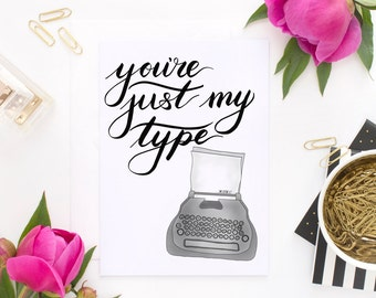 Just My Type -  SALE CARD