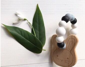 Bunny Teether Monochrome | Teething toy | Baby Gift |