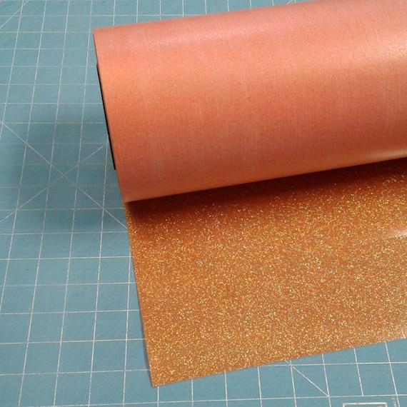 "Translucent Orange Siser Glitter 20"" x 3' Roll * Heat ..."