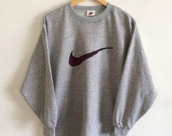 nike sweat-shirt vintage gris