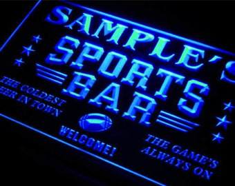 Personalized SIgn Custom Name Neon LED Decor For Home Bar Man Cave Business Man Cave Football