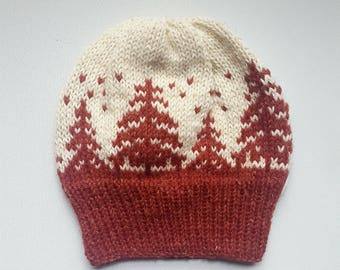 MADE TO ORDER Winter wonderland fair isle beanie
