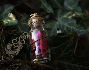 Rose Vial Necklace Antique