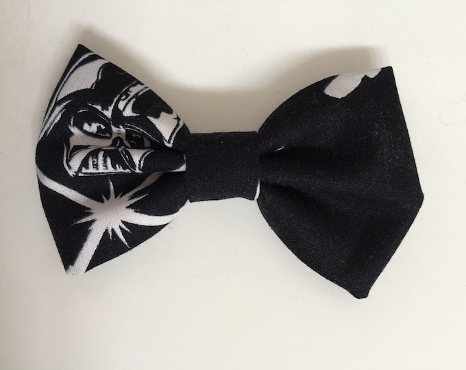 Darth Vader Glow in the Dark fabric hair bow or bow tie