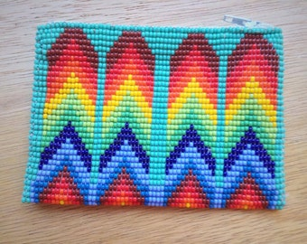 SALE - Huichol Beaded Coin Purse