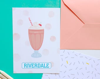 Card mailing Betty Riverdale