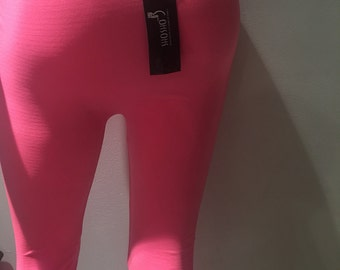 Tights come in pink or blue