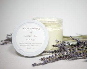 Lavender + Sage Vegan All-Natural Body Butter (12 ounces)