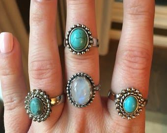 SALE: 30% OFF Turquoise & Silver Ring