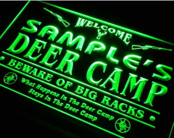 Personalized Camping Signs Deer Camp Sign Camp Lighting Camp Decoration Log Cabin Decor Camping Rules Campsite Sign Hunting Sign Camper Sign