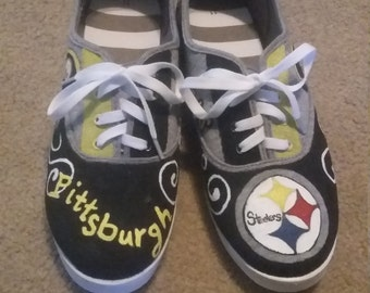 Steeler Painted Shoes