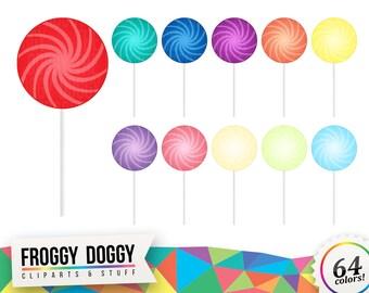Lollipop Clipart, Candy Clipart, Sugar Clipart, Pastry Clipart, Sweets Clipart, Planner Clipart, Scrapbooking Cliparts