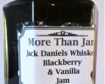 Homemade Artisan Jack Daniels Whiskey, Blackberry & Vanilla Jam 210g Gift Father's Day Dad Brother