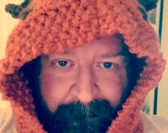 Handmade knitted Ewok Hood Cowl, Star Wars